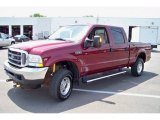 2004 Dark Toreador Red Metallic Ford F250 Super Duty Lariat Crew Cab 4x4 #30367456
