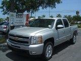 2010 Sheer Silver Metallic Chevrolet Silverado 1500 LT Crew Cab #30367468