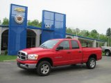 2006 Flame Red Dodge Ram 1500 SLT Quad Cab 4x4 #30367480