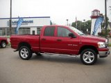 2007 Inferno Red Crystal Pearl Dodge Ram 1500 Big Horn Edition Quad Cab 4x4 #30368041