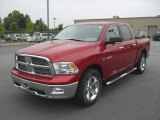 2010 Inferno Red Crystal Pearl Dodge Ram 1500 Big Horn Crew Cab #30368044