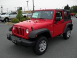 2010 Flame Red Jeep Wrangler Sport 4x4 #30368046