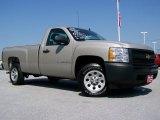 2008 Silver Birch Metallic Chevrolet Silverado 1500 Work Truck Regular Cab #30431986