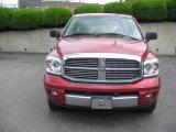 2007 Inferno Red Crystal Pearl Dodge Ram 1500 Laramie Quad Cab 4x4 #30432045