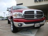 2007 Inferno Red Crystal Pearl Dodge Ram 1500 SLT Quad Cab 4x4 #30485133