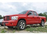 2007 Flame Red Dodge Ram 1500 SLT Quad Cab #30484859