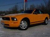 2007 Grabber Orange Ford Mustang V6 Deluxe Convertible #2974326