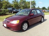 2002 Radiant Ruby Red Pearl Honda Civic EX Sedan #30485241