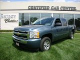 2009 Blue Granite Metallic Chevrolet Silverado 1500 LS Crew Cab #30484706