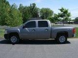 2008 Graystone Metallic Chevrolet Silverado 1500 Work Truck Crew Cab 4x4 #30484964