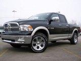 2009 Brilliant Black Crystal Pearl Dodge Ram 1500 Laramie Quad Cab 4x4 #2974415