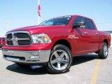 2009 Inferno Red Crystal Pearl Dodge Ram 1500 SLT Crew Cab 4x4 #2974446