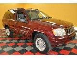 2002 Dark Garnet Red Pearlcoat Jeep Grand Cherokee Limited 4x4 #30544218