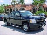 2010 Black Chevrolet Silverado 1500 Extended Cab #30543850