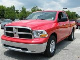2010 Inferno Red Crystal Pearl Dodge Ram 1500 SLT Quad Cab #30543887