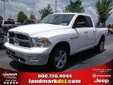 2010 Stone White Dodge Ram 1500 Big Horn Quad Cab 4x4 #30543968