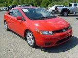 2007 Tango Red Pearl Honda Civic EX Coupe #30598881