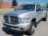2008 Bright Silver Metallic Dodge Ram 3500 Big Horn Edition Quad Cab 4x4 Dually #30598586