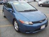 2007 Atomic Blue Metallic Honda Civic EX Coupe #30616888