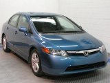2007 Atomic Blue Metallic Honda Civic EX Sedan #30616924