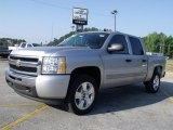 2010 Sheer Silver Metallic Chevrolet Silverado 1500 LT Crew Cab #30616567
