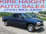 2002 Indigo Blue Metallic Chevrolet Silverado 1500 Extended Cab 4x4 #30616271
