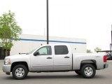 2010 Sheer Silver Metallic Chevrolet Silverado 1500 LT Crew Cab 4x4 #30616953