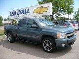 2008 Blue Granite Metallic Chevrolet Silverado 1500 LTZ Crew Cab 4x4 #30616290