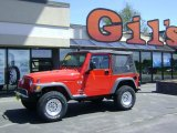 2006 Flame Red Jeep Wrangler X 4x4 #30616292