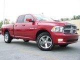 2010 Inferno Red Crystal Pearl Dodge Ram 1500 Sport Quad Cab 4x4 #30616025