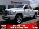 2008 Bright White Dodge Ram 1500 Big Horn Edition Quad Cab 4x4 #30616341