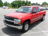 1999 Victory Red Chevrolet Silverado 1500 LS Extended Cab 4x4 #30617058