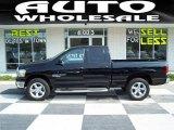 2006 Brilliant Black Crystal Pearl Dodge Ram 1500 SLT Quad Cab 4x4 #30616757