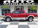 2009 Inferno Red Crystal Pearl Dodge Ram 1500 Laramie Crew Cab 4x4 #30616758