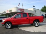 2007 Flame Red Dodge Ram 1500 SLT Quad Cab 4x4 #30616767