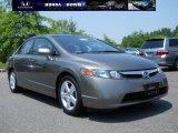 2007 Galaxy Gray Metallic Honda Civic EX Sedan #30616097