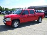 2010 Victory Red Chevrolet Silverado 1500 LT Crew Cab 4x4 #30617088