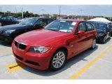 2007 Crimson Red BMW 3 Series 328i Sedan #30616850