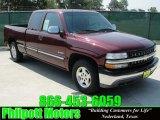 2002 Dark Carmine Red Metallic Chevrolet Silverado 1500 LS Extended Cab #30616523