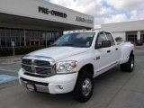 2007 Bright White Dodge Ram 3500 Laramie Quad Cab 4x4 Dually #30722664