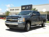 2008 Blue Granite Metallic Chevrolet Silverado 1500 LS Crew Cab #30722666