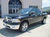 2010 Brilliant Black Crystal Pearl Dodge Ram 1500 Lone Star Crew Cab #30722835