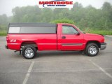 2003 Victory Red Chevrolet Silverado 1500 LS Regular Cab 4x4 #30722903