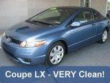 2007 Atomic Blue Metallic Honda Civic LX Coupe #30722601