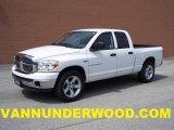 2007 Bright White Dodge Ram 1500 SLT Quad Cab #30722645