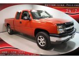 2004 Sport Red Metallic Chevrolet Silverado 1500 LS Extended Cab 4x4 #30752348