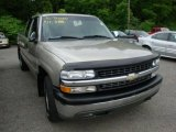 2002 Light Pewter Metallic Chevrolet Silverado 1500 LS Extended Cab 4x4 #30769935
