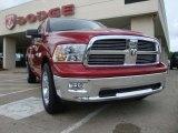 2010 Inferno Red Crystal Pearl Dodge Ram 1500 Big Horn Quad Cab #30770211