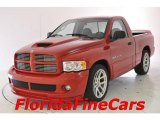 2004 Flame Red Dodge Ram 1500 SRT-10 Regular Cab #30769845