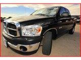 2008 Brilliant Black Crystal Pearl Dodge Ram 1500 ST Quad Cab #3066229